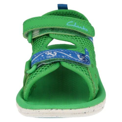 Boys Clarks Piranha Boy Navy Grey Or Green Washable Doodles Sandals