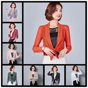 18913073bf4d Women Lady Sheer Mesh Cardigan Jacket Kimono Coat Long Sleeve Tops ...