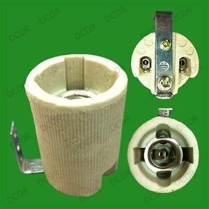 Small Edison Screw E14 Ses Ceramic Socket Light Bulb Fixing Bracket Lamp Holder Ebay
