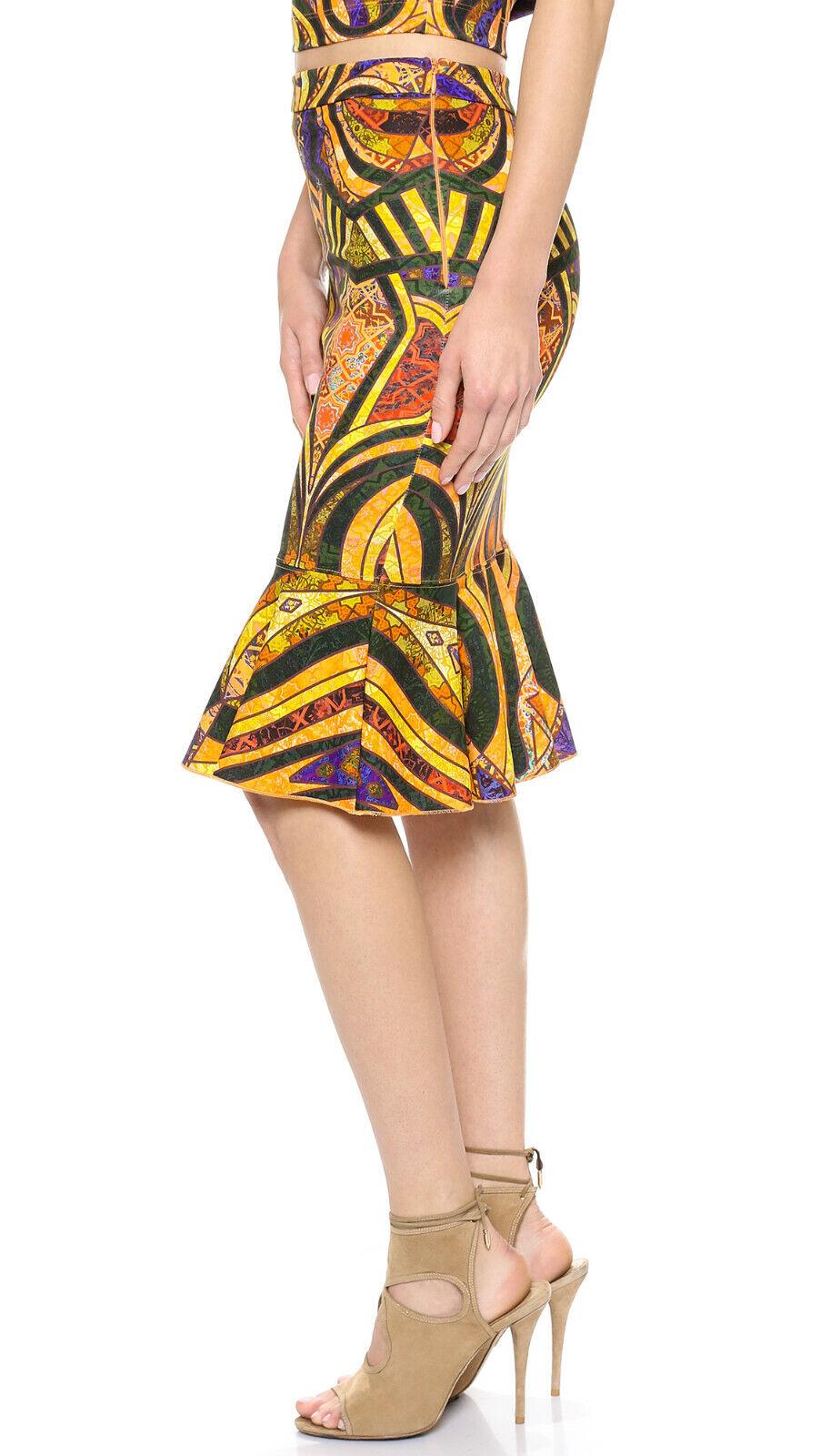 Torn By Ronny Kobo Paris Skirt Mermaid hem Med Bold colors Kaleidoscopic print