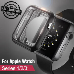 huge selection of f4786 fc9dd Details about Apple Watch Series 3 2 1 Rugged Armor Protect Cover 38/42mm  TPU Bumpe Case ILOVE