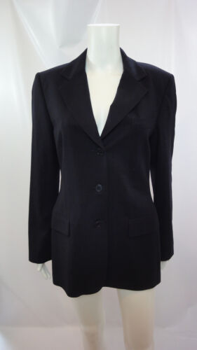 maniche nero Colletto 6 collo Blazer lunghe con a Sz a Calvin Klein 7w1qt1X