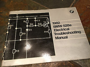 1982 bmw e28 528e electrical troubleshooting wiring diagram manual rh ebay co uk