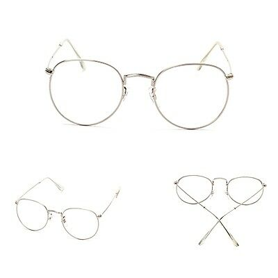 Vintage Men Women Eyeglass Frame Glasses Round Spectacles Clear Lens Optical Hot