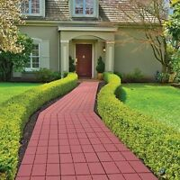 Walkway Pavers Set, Weatherproof Tiles Patio Pavement Grooves Outdoor Passage on sale