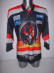 Image is loading Manchester-Phoenix-Adult-Medium-Ice-Hockey-Shirt-Jersey- 6baa6ff82