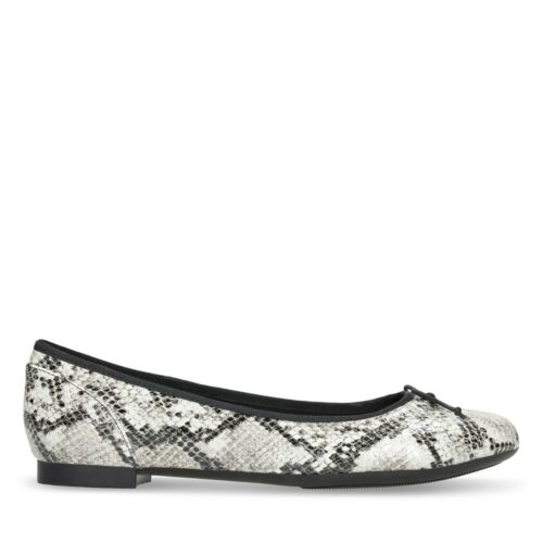 clarks shoe  Couture bloom grey snake D width fittng