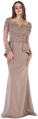 NEW DESIGNER RECEPTION EVENING MOTHER of THE GROOM DRESSES BANQUET EVENING GOWN