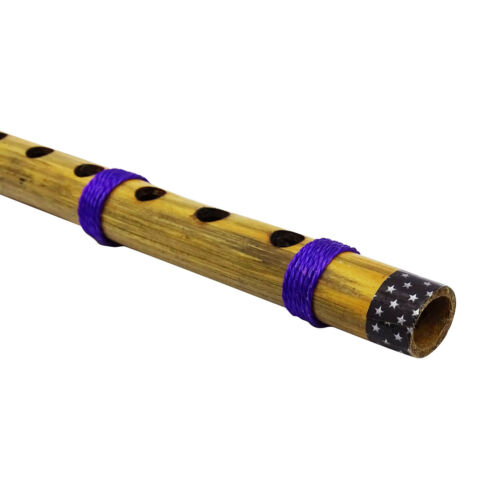 Traditionelle Handarbeit Braun Bambus Bansuri Musical Instrument Holzflöte Dekor