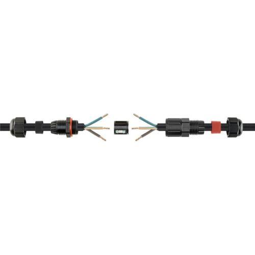 max. 450V Wasserdichte Kabelmuffe IP68 230V 24A // Für Erdkabel Leitungen Boden