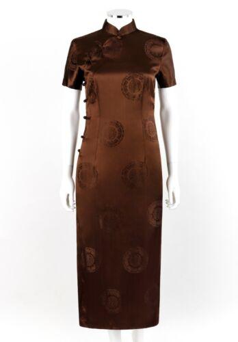 VTG c.1990's ZADIG & VOLTAIRE Brown Silk Oriental