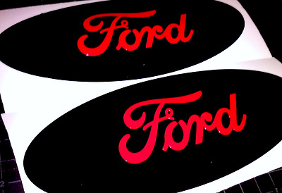 Ford F250 F350 Super Duty Emblem Overlays STICKER DECAL Oval Front & Rear Set