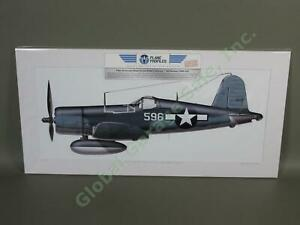 WWII-Vought-F4U-1A-Corsair-Airplane-Art-Print-Robert-Hanson-596-Marines-VMF-215