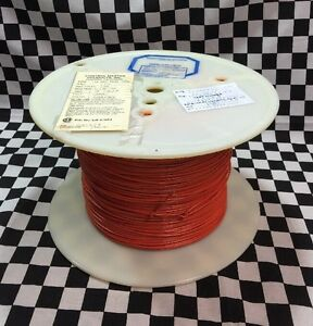 Anixter Wire 18 AWG, 1500ft, Color Orange, UL1007/tr-64-vw-1, UL ...