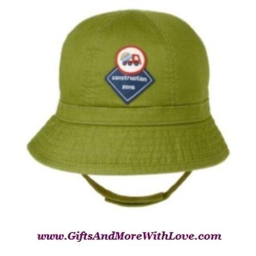 Gymboree NWT Green LIL DIRT MAGNET CONSTRUCTION ZONE BUCKET HAT CAP 0 3 Months