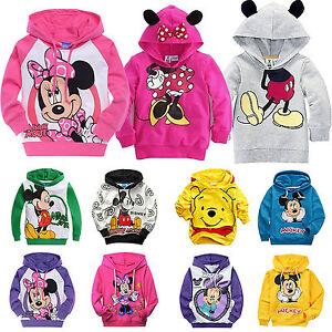 Kids Baby Boys Girls Mickey Minnie Hoodie Coat Sweatshirt Toddler