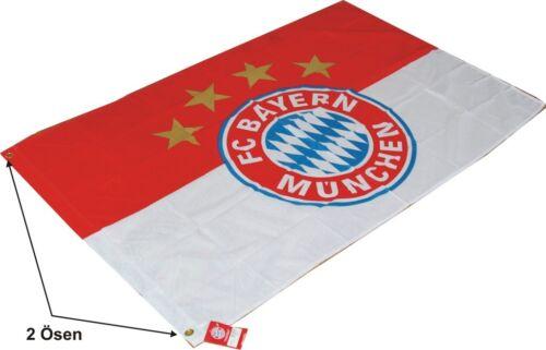 FC Bayern Drapeau Logo avec deux oeillets 150x100cm