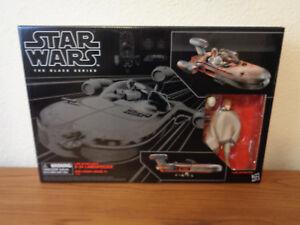 "Star Wars The Black Series #02 6/"" Luke/'s Speeder with Luke Skywalker NEW IN HAND"