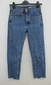 LEVI-039-S-Ladies-Washed-Blue-Cotton-555-Guy-039-s-Fit-Straight-Leg-Jeans-W26-L27