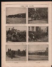 WWI British Army Red Cross Bakery Scots Guards Artillery War 1915 ILLUSTRATION