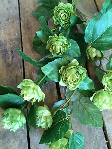 3 Faux Silk Artificial Green Bells of Ireland Wild Flowers Realistic Greenery