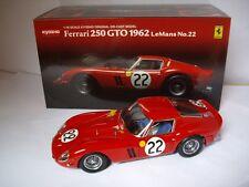 Ferrari 250 GTO 1962 le mans n°22 08432B Kyosho 1/18