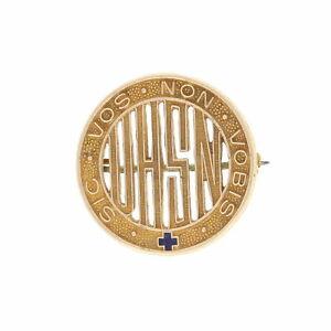 Vintage-Nursing-School-Badge-10k-Yellow-Gold-UHSN-Medical-Pin