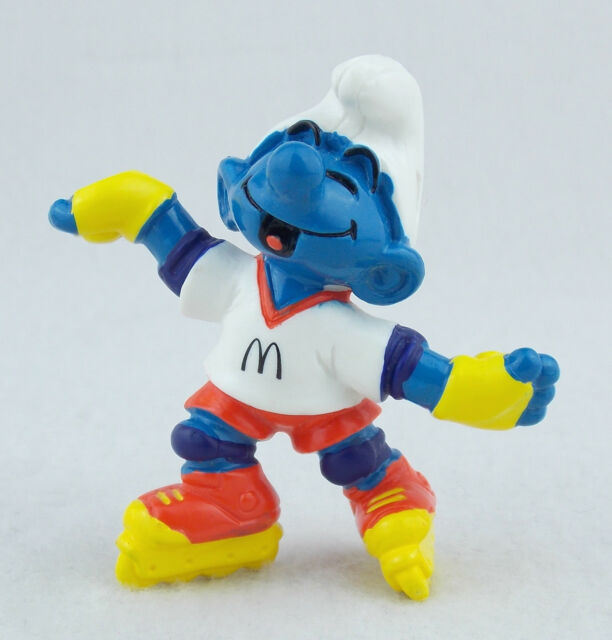 Mc Donalds Schlumpf Inline Skater 1997 Peyo Fremdfigur Sammelfigur Smurf o BPZ