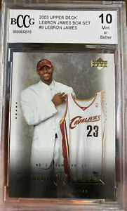 Iconic-2003-Upper-Deck-LeBron-James-Rookie-Card-9-Box-Set-BCCG-10-Mint