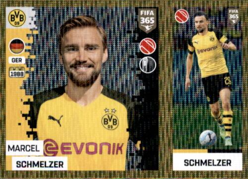 Panini FIFA365 2019 Sticker 177 a//b Borussia Dortmund Marcel Schmelzer