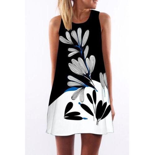 Damen Strand Minikleid Sommerkleid Bikini Badekleider Tunika Longshirt Top Bluse