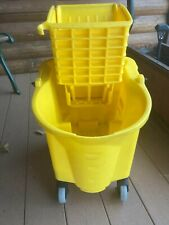 Wavebrake 35 Qt Plastic Mop Bucket With Wringer Rubbermaid Commercial Products