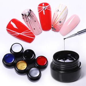 6Boxes-Set-NICOLE-DIARY-Draw-Painting-Spider-UV-Gel-Gellack-Soak-Off-Nail-Art