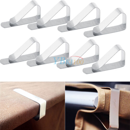 1//4//8//12//24Pcs Stainless Steel Tablecloth Clips Holder Clamps Party Picnic Tools
