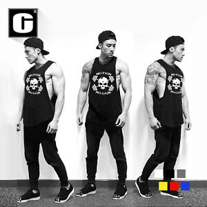 Men-039-s-Gym-Summer-Bodybuilding-Stringer-Training-Fitness-Muscle-Tank-Top-Vest