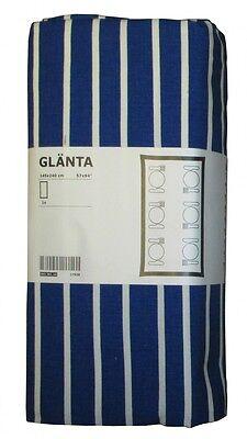 Ikea GLÄNTA 1x Tischdecke Blau weiß gestreift 145x240 Baumwolle