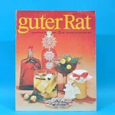 Guter Rat 4-1983 Verlag für die Frau DDR Klötzer Rezepte Staubsauger Orangen A