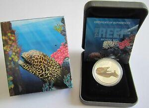Australia-50-Cents-2010-Sea-Life-Moray-Eel-1-2-Oz-Silver