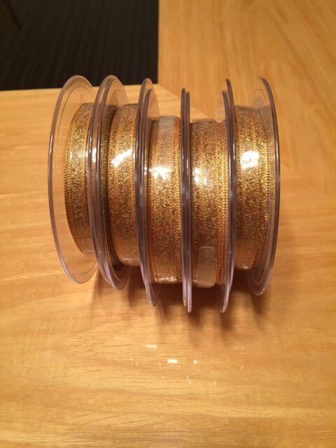 25mm  Berisfords Double Faced Metallic Lame Ribbon Choose colour 2m