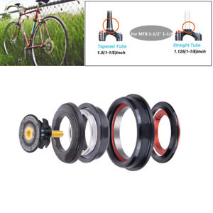 42 52mm MTB Bicycle Front Fork Tapered Tube Fork Bearings Head Set Bicycle US