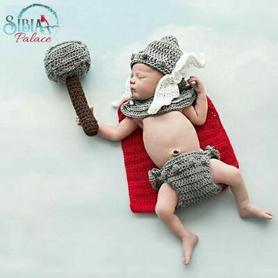 Uk Newborn Baby Lion Fur Cap Photography Crochet Knit Props Girl Boy Photoshoot