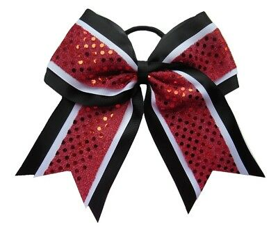 "NEW /""CONFETTI Red White Blue/"" Cheer Bow Tail 3/"" Ribbon Hair Bows Cheerleading"
