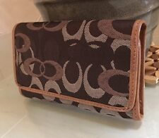 New Designer Inspired Gorgeous Faux Leather / Denim Credit Card Tri-Fold Wallet