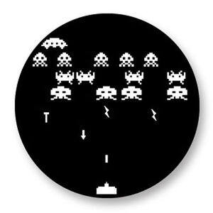 Magnet Aimant Frigo Ø38mm Retro Game Arcade Game Vintage Jeux 80s Space Invaders