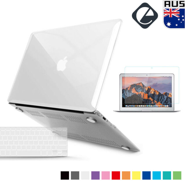 """Rubberized Hard Case Keyboard Cover Screen Protector for MacBook Air 13.3"""" A1466"""
