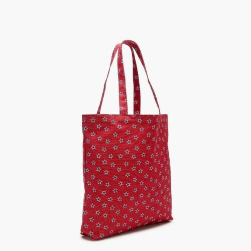 NEW J Crew Cotton Canvas Market Book Shopping Tote Bag Leopard Star Reusable NWT