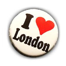 Badge I LOVE LONDON heart coeur England GB UK British punk rock pin button Ø25mm