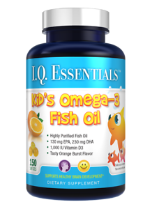 Purity-Products-I-Q-Essentials-Kid-039-s-Omega-3-Fish-Oil-plus-Vitamin-D3