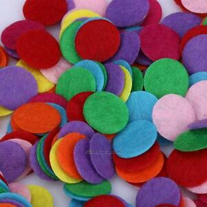 1000pcs 15mm Round Felt Pads Apparel Sewing Fabric Patches Flower Brooch Decor 714890549999