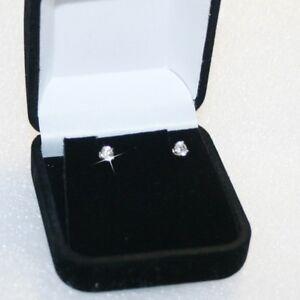 Small-Diamond-Alternatives-Stud-Earrings-Basket-Setting-3mm-Solid-14k-White-Gold